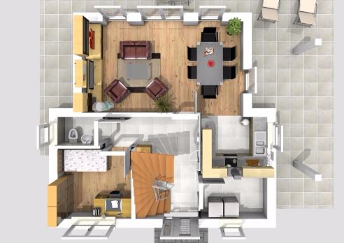 Haus des Monats Februar 2016 Ergeschossperspektive