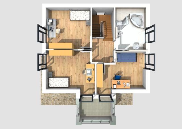 ... Ansichten, Schnitte, Bautragspläne), Mengenberechnung, Kalkulation Und  Visualisierung Dieses Hauses Wurde Erstellt Mit Der Software  Bauset Hausplaner.