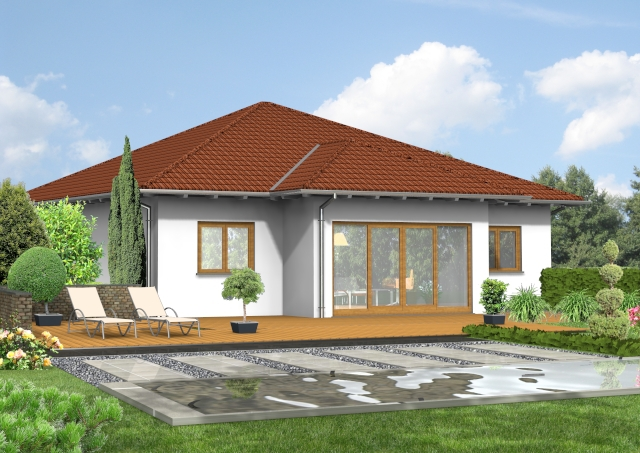 bauset bauset hausplaner meinhausplaner bungalow 09. Black Bedroom Furniture Sets. Home Design Ideas