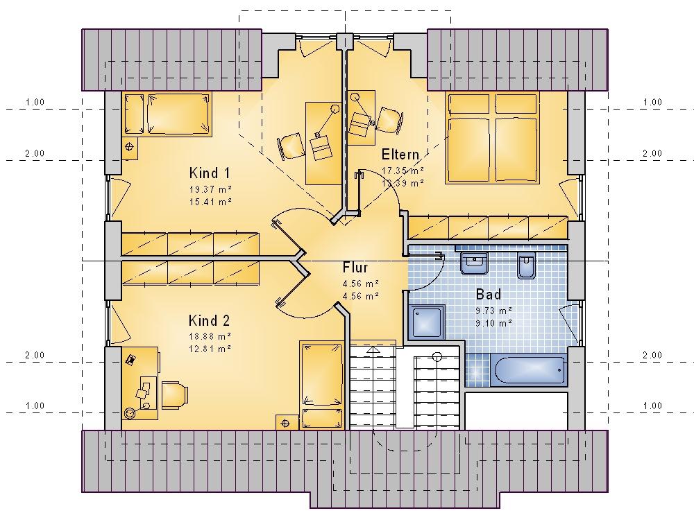 bauset bauset hausplaner meinhausplaner haus sd 33. Black Bedroom Furniture Sets. Home Design Ideas