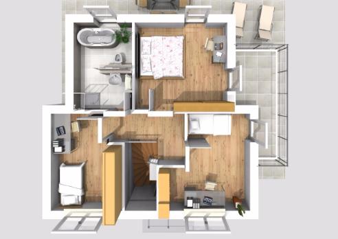 Haus des Monats Februar 2016 Dachgeschossperspekitve