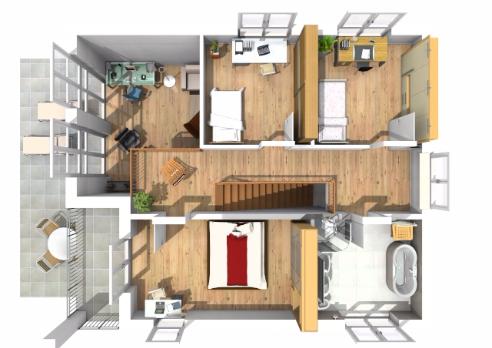 Haus des Monats Februar 2016 Obergeschossperspektive
